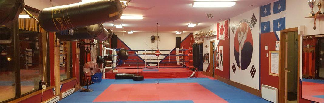Photo  panoramique de la salle d'entrainement.(Dojo)